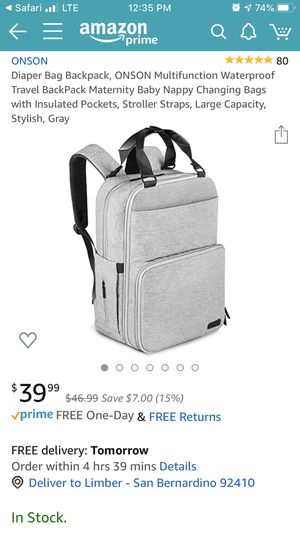 Diaper Bag Backpack for Sale in San Bernardino, CA