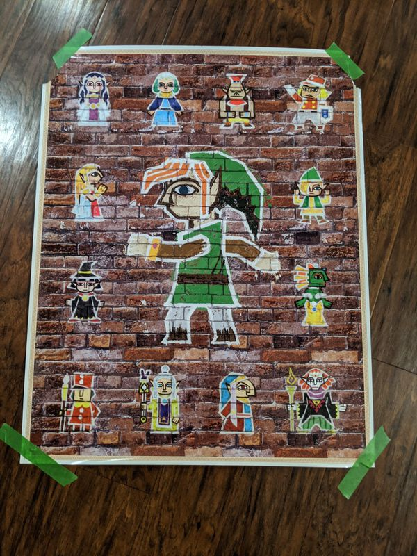 Various collectible Nintendo and anime posters