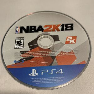 NBA 2K18 For PlayStation 4 PS4 Disc Only Video Game for Sale in Camp Hill, PA