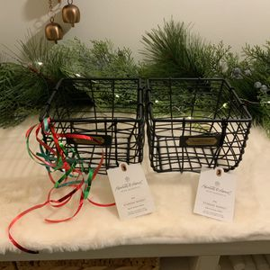 2 HEARTH AND HAND MAGNOLIA MATTE BLACK BASKETS for Sale in Thousand Oaks, CA