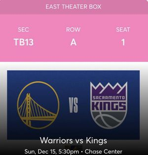 """Theater Boxes"" Watch the game, from a different perspective for only $150 I have 4 seats. for Sale in San Francisco, CA"