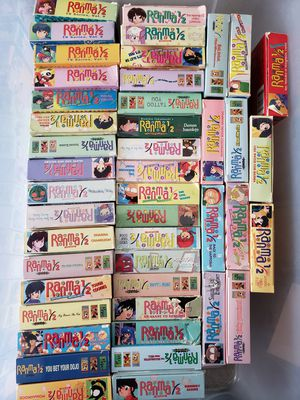 Ranma 1/2 Japanese Anime Lot of 45 VHS tapes for Sale in Carol Stream, IL