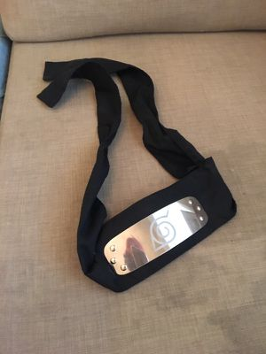 Naruto forehead protector, headband for Sale in Los Angeles, CA