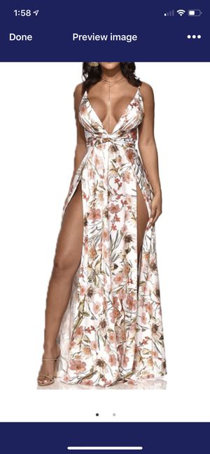 White slit dress for Sale in Columbus, OH