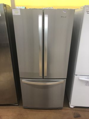 Refrigerator bottom freezer Whirlpool 3 door apartment size for Sale in Glendora, CA