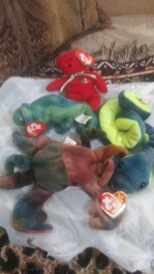 TY Beanie babies-Hissy the Snake,Claude the crab,Iggy the iguana,Osito the bear for Sale in Lebanon, TN