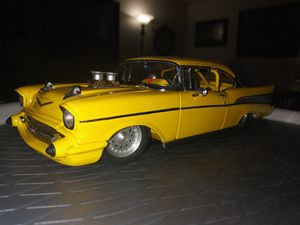 "57' CHEVY ""PRO-STREET"" DRAG CAR another 1:24 scale Danbury Mint adult Diecast collectible for Sale for sale  Spanaway, WA"