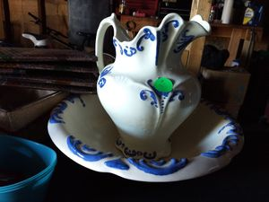 Antique water basin and pitcher for Sale in Anaconda, MT