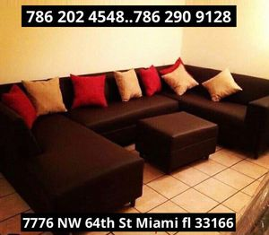 Dark brown sectional couch never used for Sale in Miami, FL