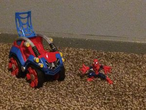 Spiderman and his vehicle kids toy for Sale in Henderson, NV