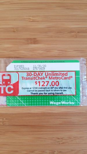 MetroCard Unlimited 30 Days for Sale in New York, NY
