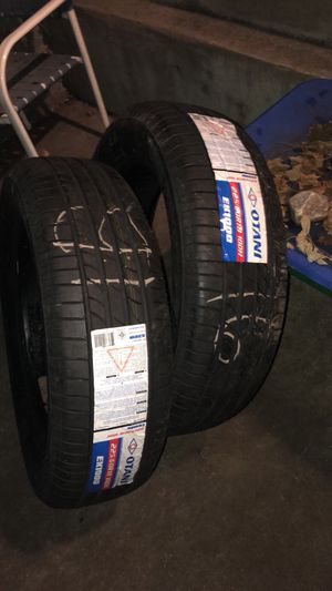 2 brand new ( 225/60/18 ) Otani all season tires and a jumper box for Sale in Troy, NY