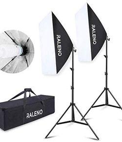 "Softbox Photography Lighting Kit 20""X28"" Photography Continuous Lighting System Photo Studio Equipment with 2pcs E27 Socket 5500K Bulb Photo Model Por for Sale in Phoenix,  AZ"