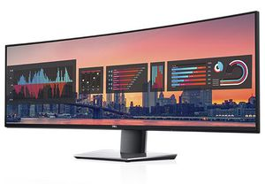49-inch curved with super ultra wide and ultra sharp IPS Monitor and native KVM by Dell for Sale in Bothell, WA