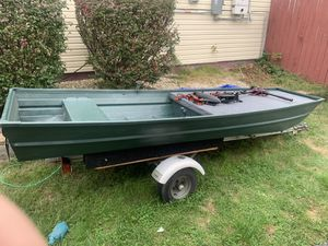 12 ft Aluminum Jon Boat with Trailer for Sale in Levittown, PA