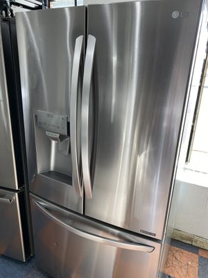 Lg counter depth French style stainless steel refrigerator for Sale in Costa Mesa, CA
