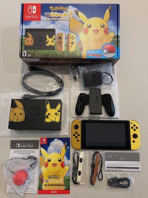 Nintendo Switch Pokemon Let's Go Pikachu Edition for Sale in La Puente, CA