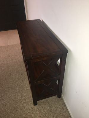 Dark Stained Wood Small Shelf for Sale in Redondo Beach, CA