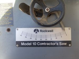 "10"" ROCKWELL Table saw for Sale in Lake Elsinore, CA"