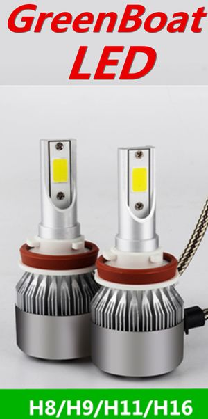 H11 H9 H8 LED Headlight Bulb Kit Low Beam Fog Light 60W 6000K 7600LM US brand#GreenBoat for Sale in Cerritos, CA