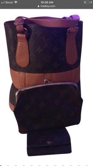 Authentic Louis Vuitton Marais Bucket Pochette with Prototype Pm Tote Satchel French Co Monogram Coated Canvas Shoulder Bag for Sale in La Quinta, CA