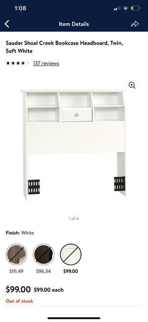Headboard, Twin, Soft White for Sale in Union City, CA