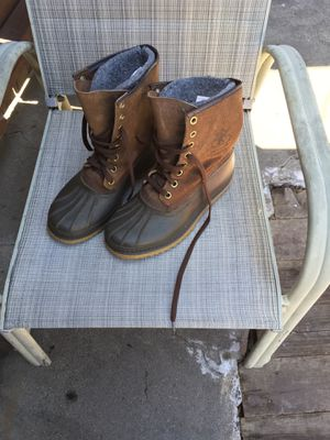 Sorel Kaufman all weather boots size 9 men for Sale in Long Beach, CA