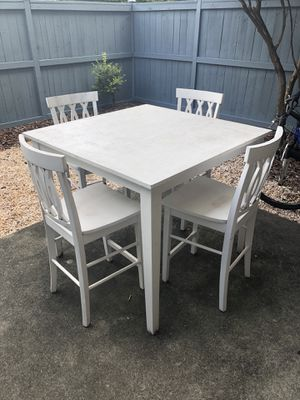 Wood Hightop Table + 4 Chairs for Sale in Charlotte, NC