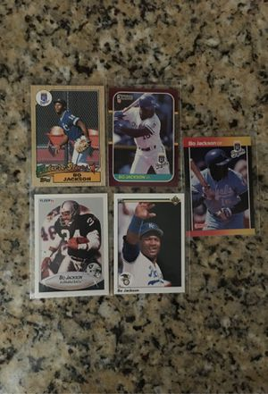 Bo Jackson Football and Baseball Cards for Sale in Clovis, CA