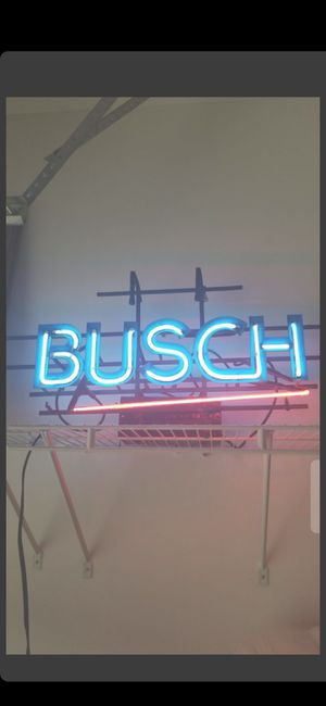 BUSCH NEON LIGHT!!!ALL ORIGINAL for Sale in Delray Beach, FL