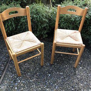 Matching Rush/Wicker Chairs for Sale in Mercer Island, WA