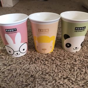 Owl, Lion, Panda And Rabbit Cups for Sale in Salt Lake City, UT
