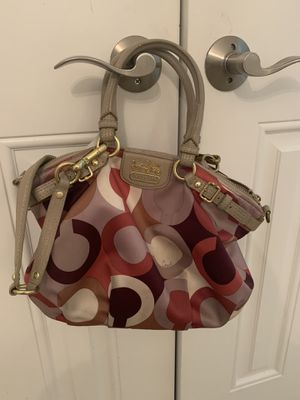 Coach Berry Genuine Leather and Satin Satchel Handbag for Sale in Medina, OH