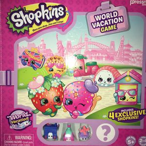Pressman Toy Shopkins World Vacation Game Ages 5 and Up Eight dollars for Sale in Queen Creek, AZ