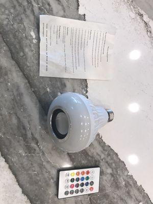 Light bulb speaker for Bluetooth wireless for Sale in Clovis, CA