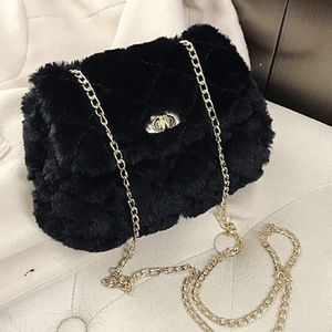 Quilted Fluffy Cross Body Bag In Black for Sale in Sterling, VA