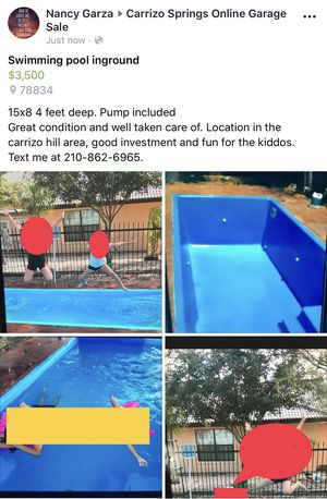 Inground swimming pool located 1.5 hrs south of San Antonio ready for pickup for Sale in San Antonio, TX
