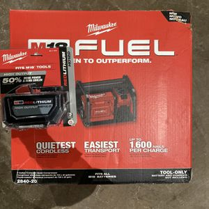 Milwaukee M18 Fuel 2gallon Air Compressor And 12.0 Batt. for Sale in Philadelphia, PA