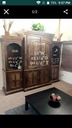 Entertainment center dresser sold separate for Sale in Phoenix, AZ