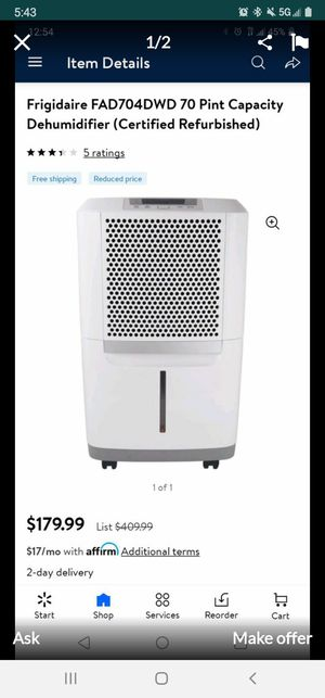 Frigidaire Dehumidifiers for Sale in Anaheim, CA