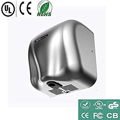 New* AjAir Hand Dryer Heavy Duty Commercial 1800 Watts High Speed Automatic - Stainless Steel Seal
