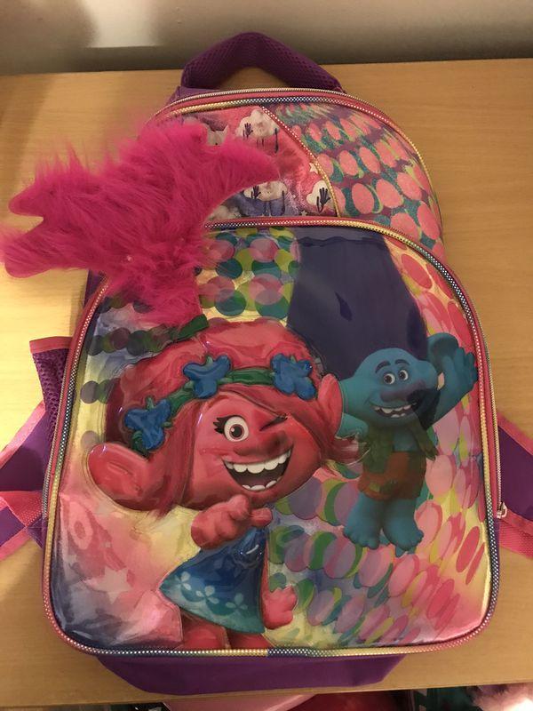 Trolls poppy light up backpack