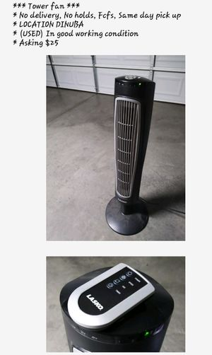 (USED) Tower fan $15 for Sale in Dinuba, CA