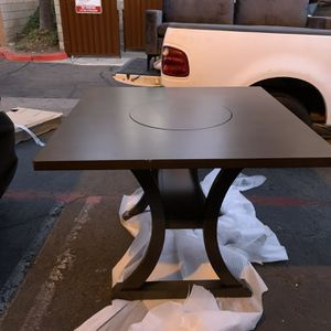 Beautiful Counter Height Dining Table With Turnaround Lazy Susan in the Middle And Unique Base! for Sale in San Diego, CA