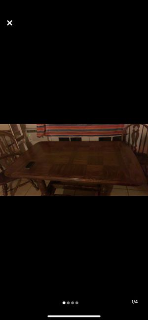 Solid family tables w/6 matching chairs great cond pick up only for Sale in Coarsegold, CA
