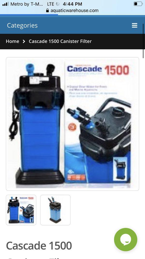 Cascade 1500 Canister Filter Aquarium fish tank