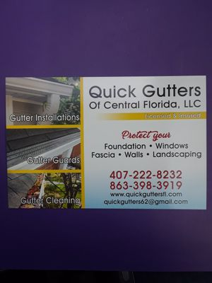 Quick Gutters of Central florida for Sale in Lakeland, FL