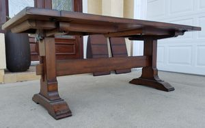 POTTERY BARN Rustic Farmhouse Barn Dining Table ONLY + 2 Extra Extendable Leaves INCLUDED for Sale in Monterey Park, CA