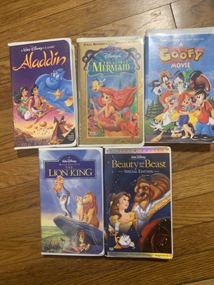 Disney Vintage VHS (10 pcs) for Sale in Canton, MA