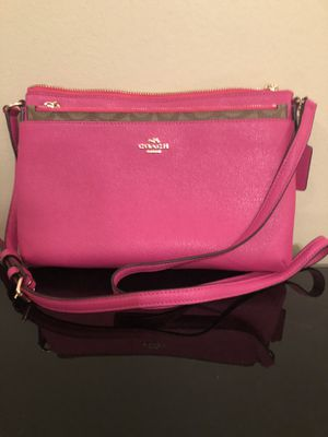 Authentic Pink Coach bag w/pop-out pouch (Serial #F57788) for Sale in Center Line, MI